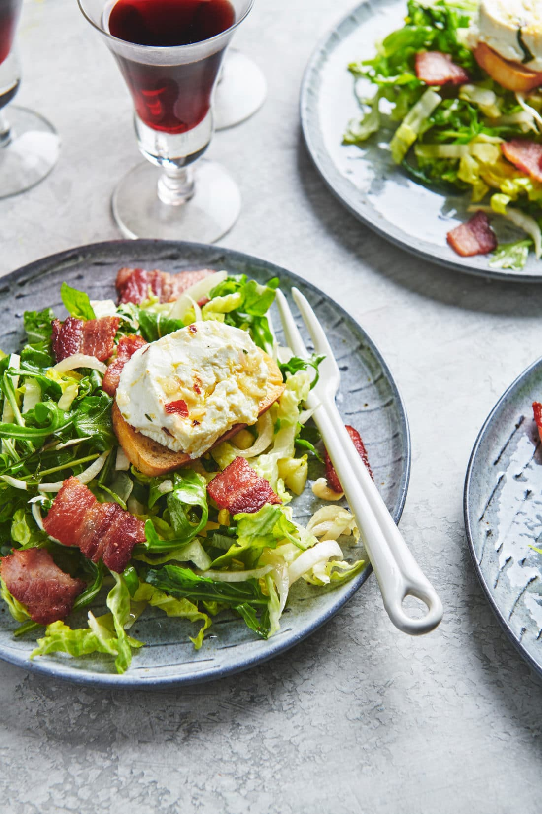 Bistro Salad with Warm Goat Cheese
