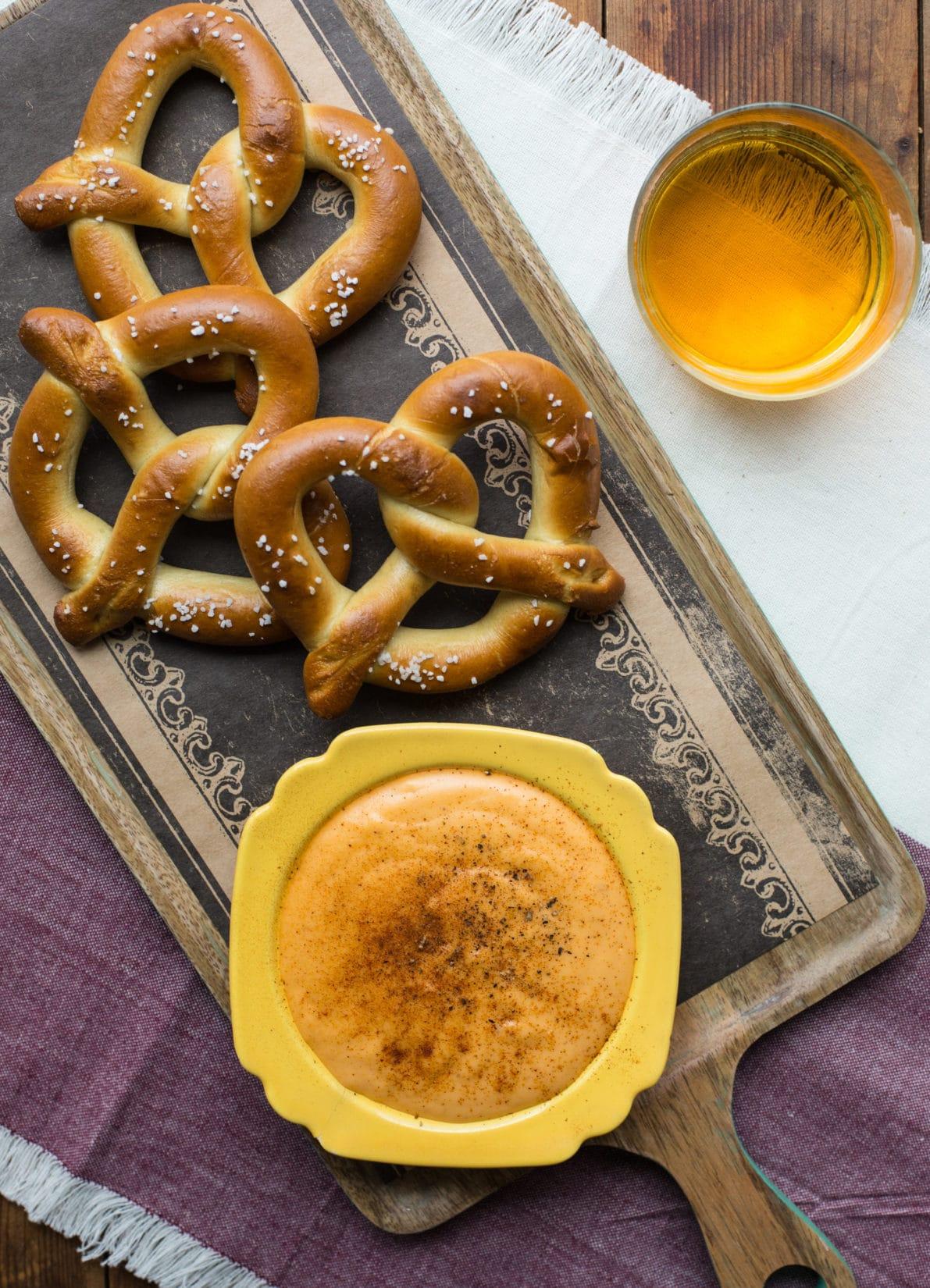 Cheese Beer Dip with Hot Pretzels / Sarah Crowder / Katie Workman / themom100.com