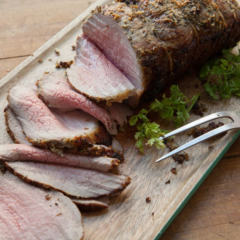 Roast Beef with Thyme and Rosemary / Carrie Crow / Katie Workman / themom100.com