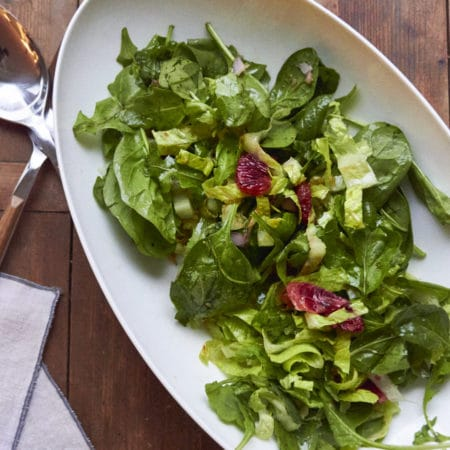 Mixed Greens with Pomegranate Vinaigrette / Mia / Katie Workman / themom100.com