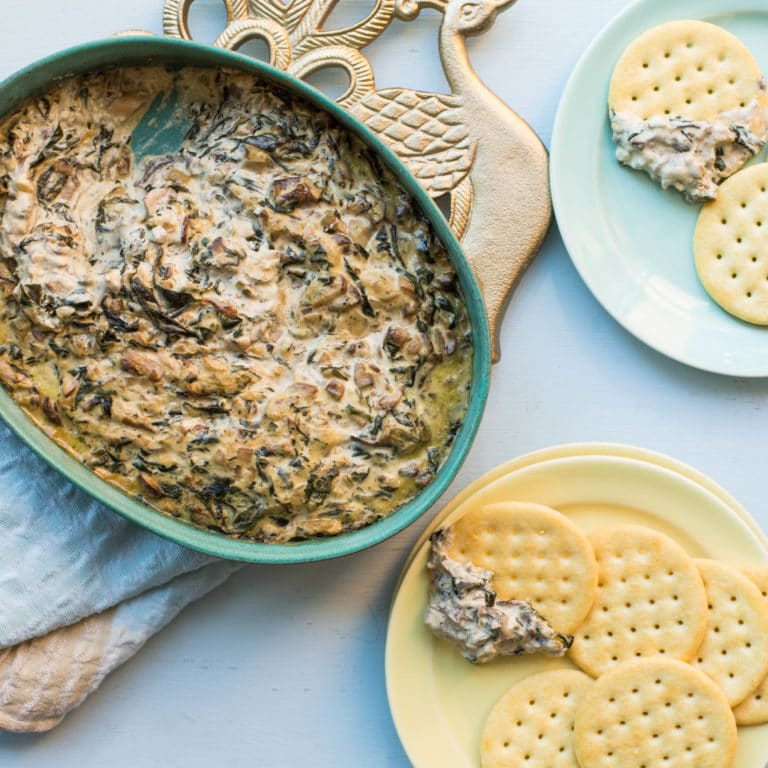 Hot Creamy Mushroom and Spinach Dip / Sarah Crowder / Katie Workman / themom100.com