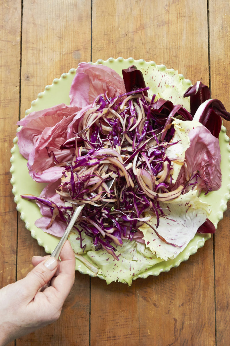 Red Salad with Citrus, Honey and Thyme Vinaigrette / Mia / Katie Workman / themom100.com