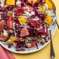 Endive, Radicchio and Citrus Salad with Bacon Vinaigrette / Sarah Crowder / Katie Workman / themom100.com