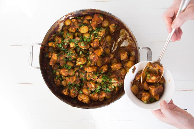 Indian Spiced Chicken and Potato Stew / Photo by Mandy Maxwell / Katie Workman / themom100.com