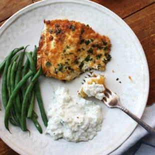 Panko Crusted Fish with Tzatziki / Laura Agra / Katie Workman / themom100.com