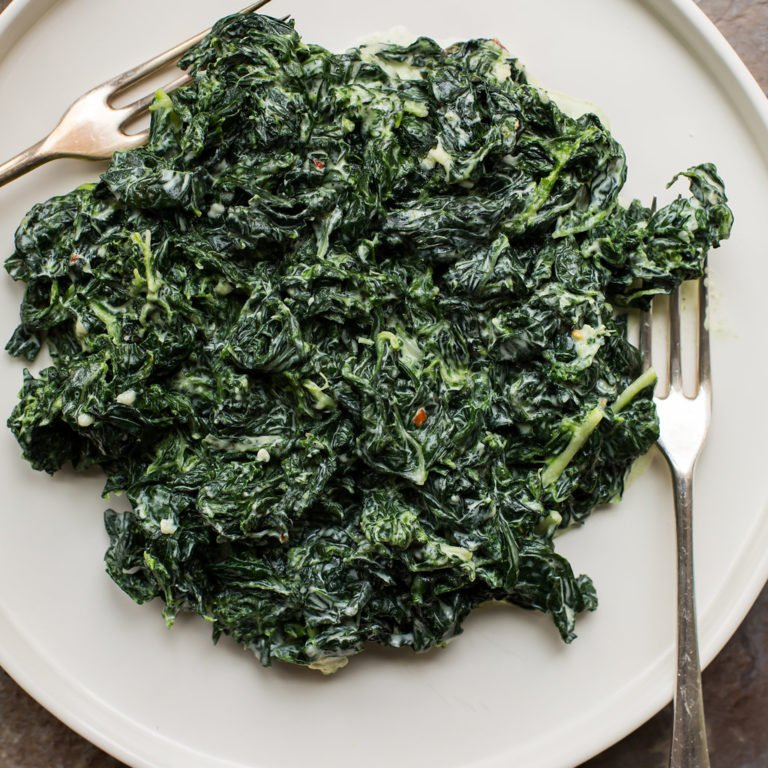 Creamed Kale with Parmesan / Sarah Crowder / Katie Workman / themom100.com