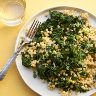 Lebanese Couscous with Sautéed Kale with Lemon Dressing / Mia / Katie Workman / themom100.com