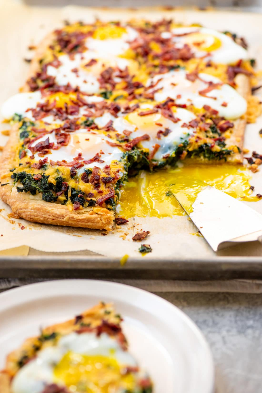 Puff Pastry Breakfast Tarts with Spinach, Egg and Cheese / Photo by Cheyenne Cohen / Katie Workman / themom100.com
