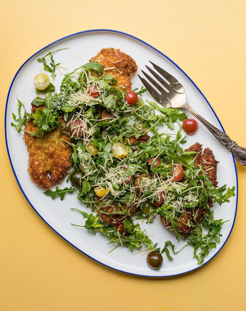 Spicy Chicken Milanese / Sarah Crowder / Katie Workman / themom100.com