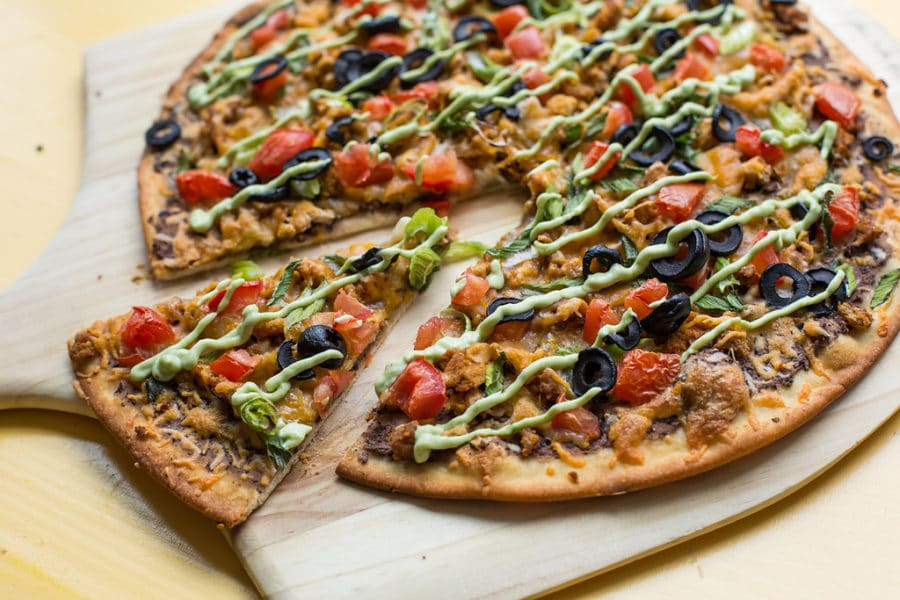 Mexican Pizza with Avocado Crema / Sarah Crowder / Katie Workman / themom100.com