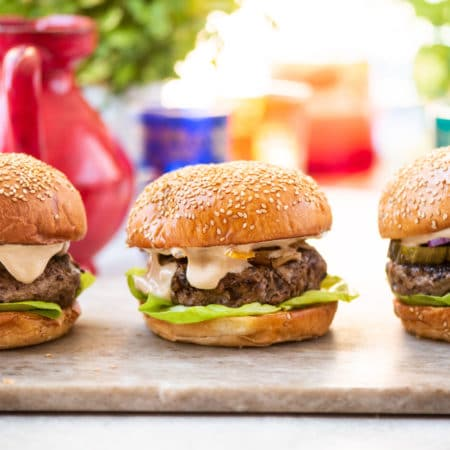 Asian Beef Mushroom Burgers / Photo by Cheyenne Cohen / Katie Workman / themom100.com