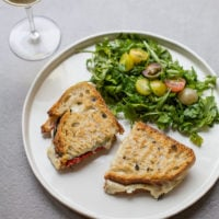 Grilled Cheese with Roasted Peppers and Salad / Sarah Crowder / Katie Workman / themom100.com