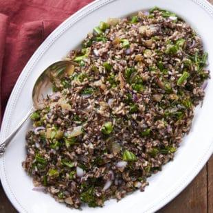Wild Rice and Broccolini Salad / Mia / Katie Workman / themom100.com