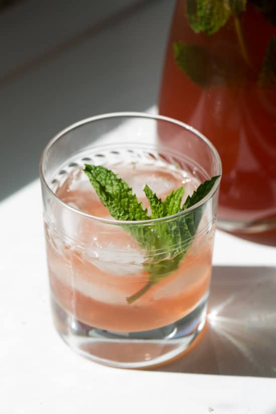 Sparkling Mint Pomegranate Champagne Cocktail