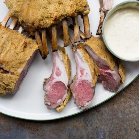 Orange Thyme Rack of Lamb Chops / Sarah Crowder / Katie Workman / themom100.com