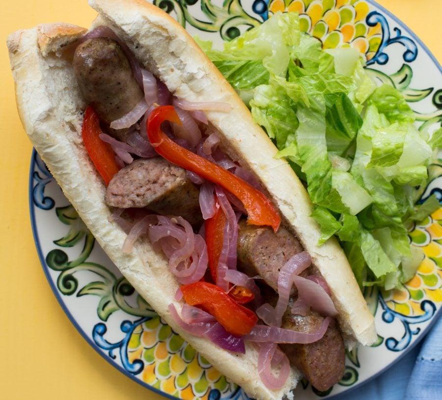 Sausage, Onions and Pepper Sub Sandwich / Sarah Crowder / Katie Workman / themom100.com