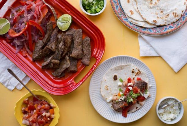 Steak Fajitas / Sarah Crowder / Katie Workman / themom100.com