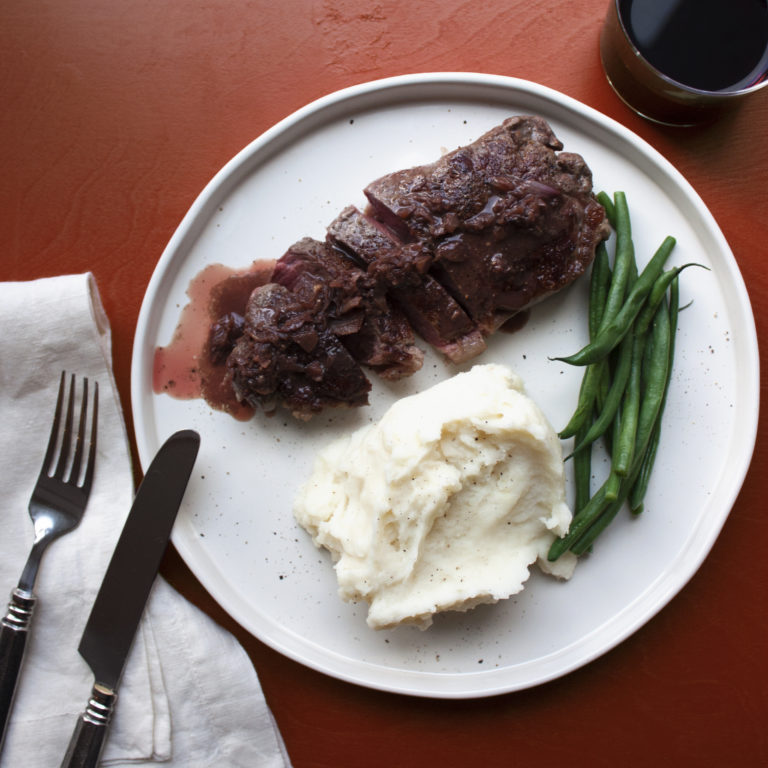 Strip Steak Diane / Laura Agra / Katie Workman / themom100.com