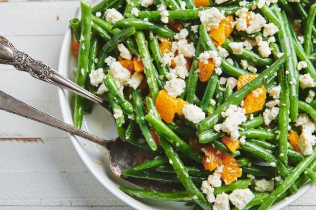 Green Bean Salad with Clementine Oranges and Feta