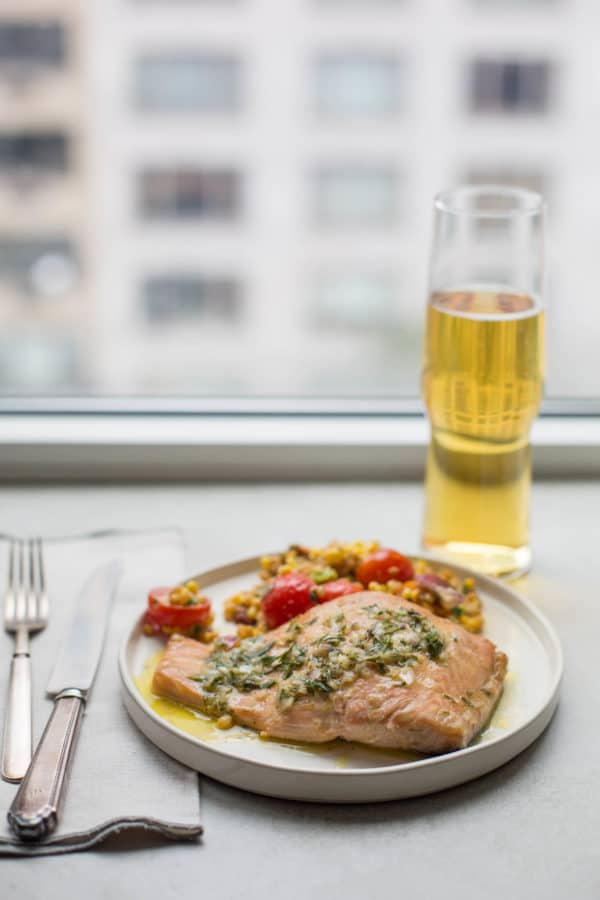 Salmon with Tarragon Vinaigrette / Sarah Crowder / Katie Workman / themom100.com