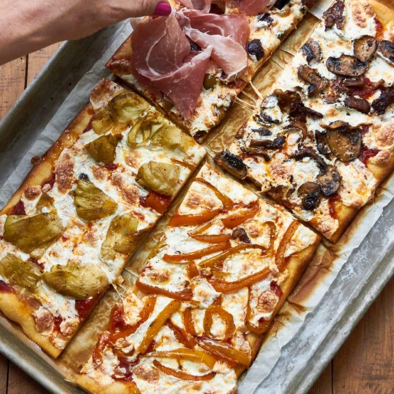 Pizza Quattro Stagioni / Mia / Katie Workman / themom100.com