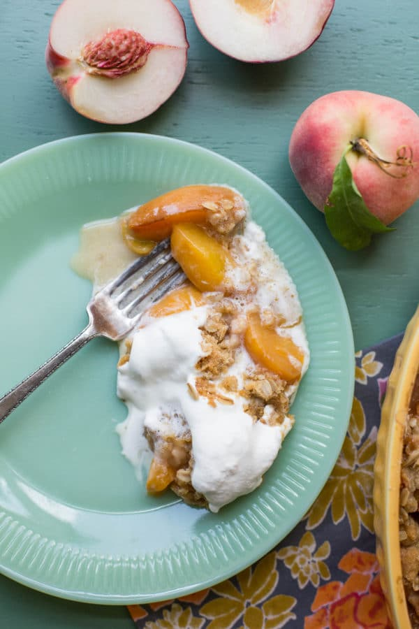 Simplest Peach or Nectarine Crisp / Sarah Crowder / Katie Workman / themom100.com