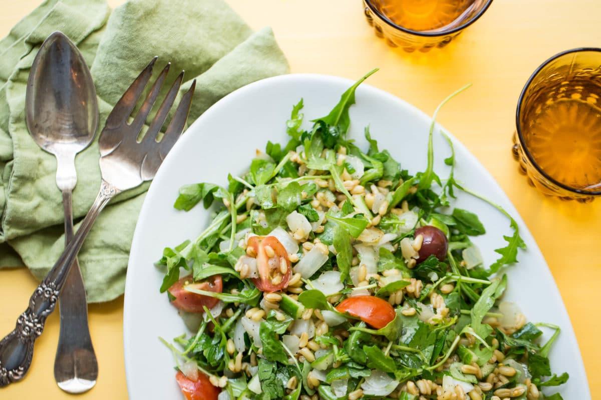 Kamut Tabbouleh Salad / Sarah Crowder / Katie Workman / themom100.com