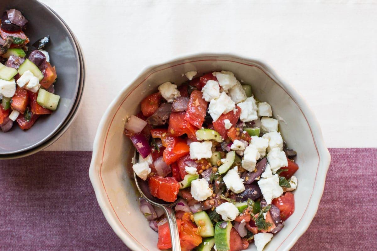 Greek Tomato and Cucumber Salad / Sarah Crowder / Katie Workman / themom100.com