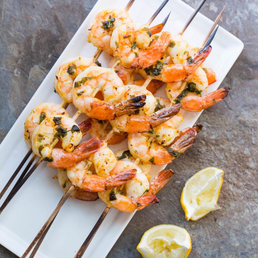 Citrus Basil Shrimp Kebabs / Sarah Crowder / Katie Workman / themom100.com