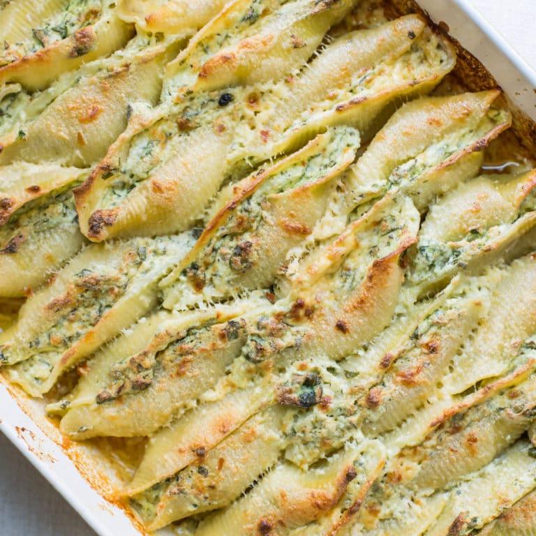 Spinach and Cheese Stuffed Shells / Sarah Crowder / Katie Workman / themom100.com