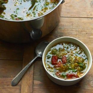 Escarole and Spinach Soup / Mia / Katie Workman / themom100.com