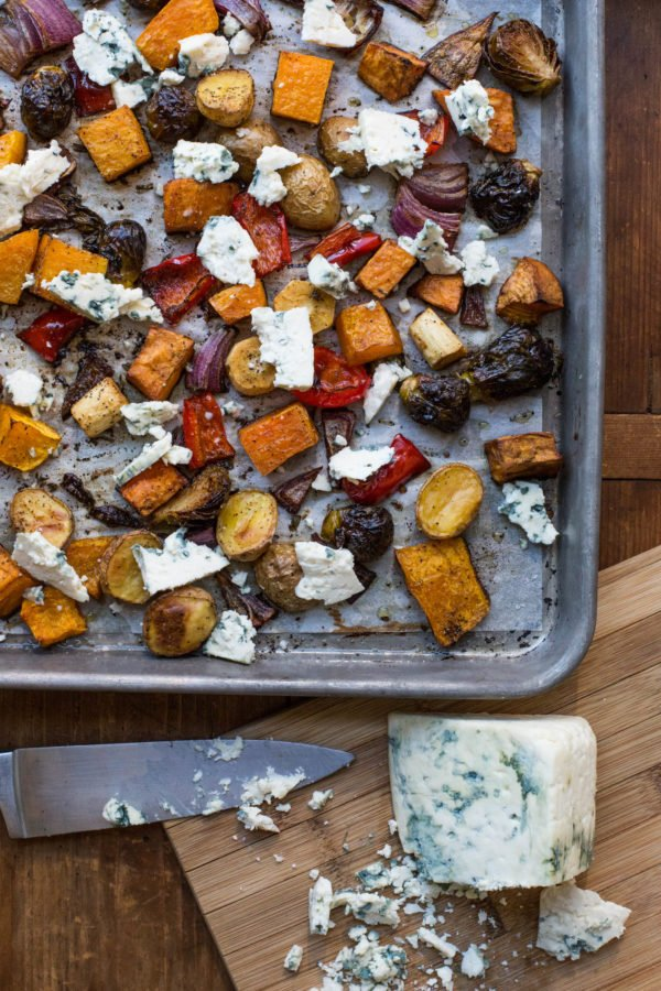 Roasted Winter Vegetables with Blue Cheese / Sarah Crowder / Katie Workman / themom100.com