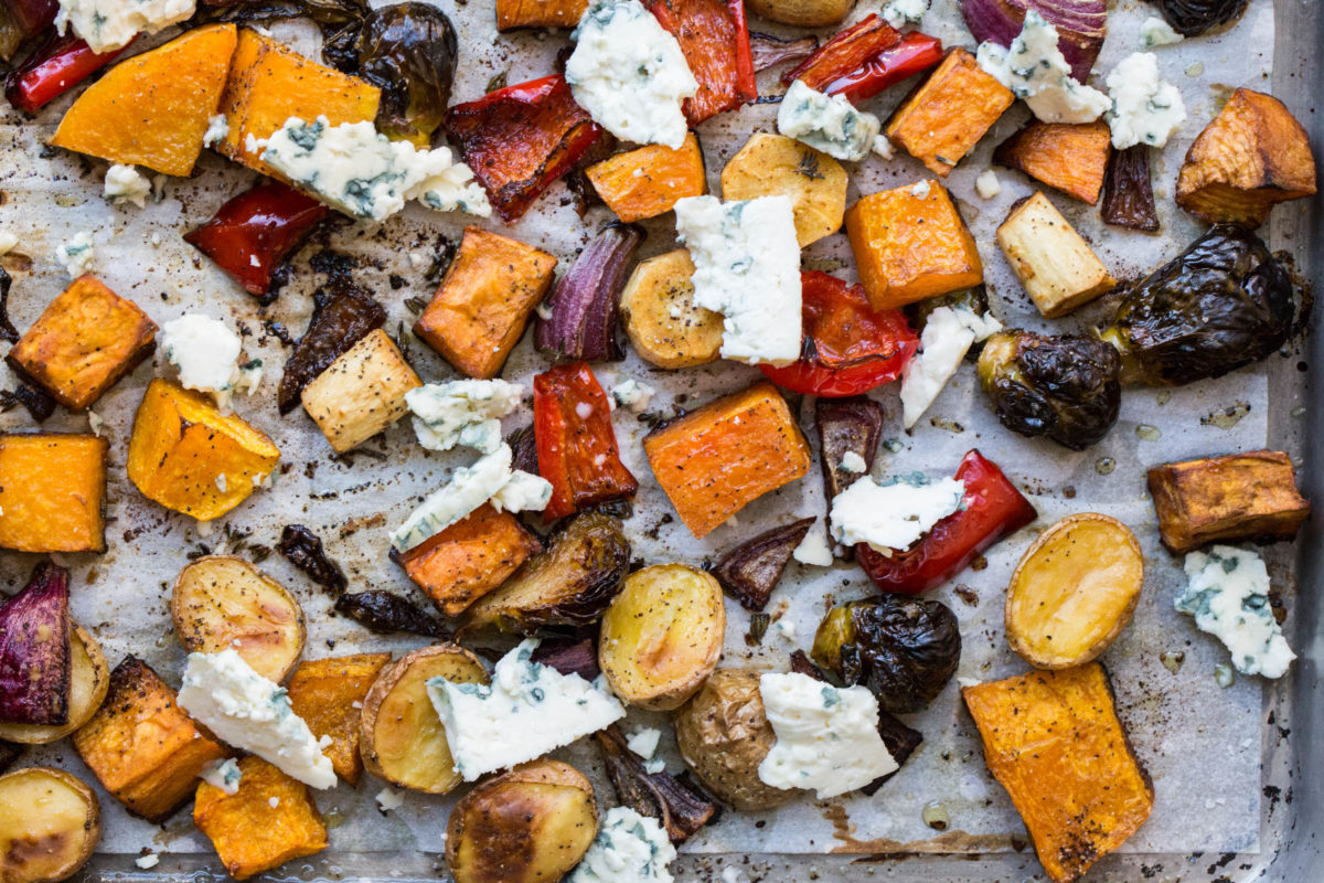 Roasted Winter Vegetables with Blue Cheese/ Sarah Crowder / Katie Workman / themom100.com