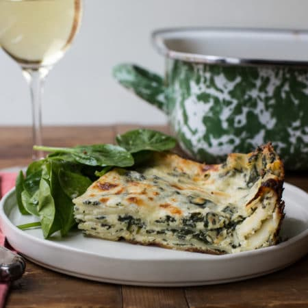 Cheesy White and Green Spinach Lasagna / Sarah Crowder / Katie Workman / themom100.com