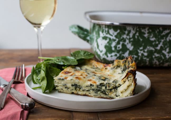 Cheesy White and Green Spinach Lasagna / Sarah Crowder / Katie Workman / themom100.com
