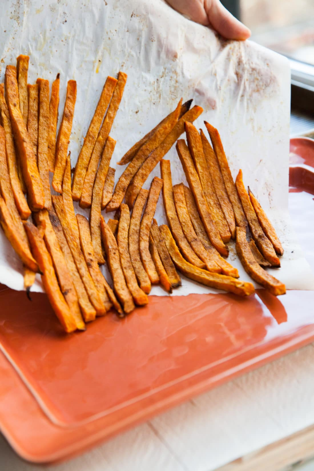 New Bay Sweet Potato Fries / Carrie Crow / Katie Workman / themom100.com