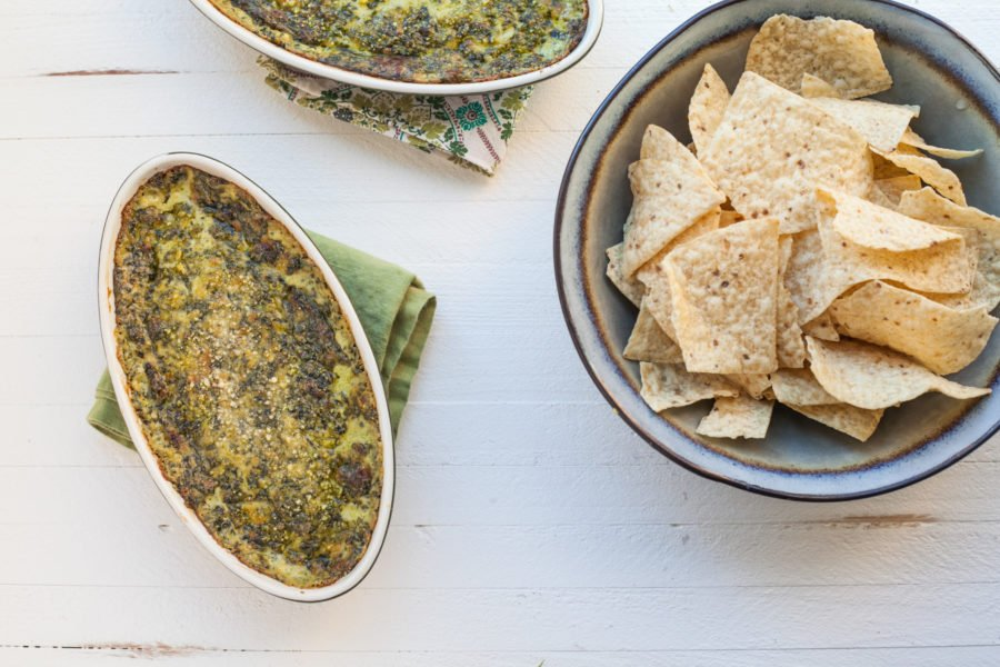 Hot, Creamy Spinach and Goat Cheese Dip