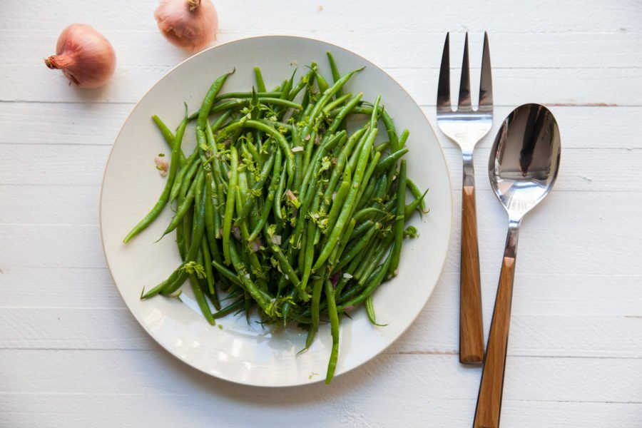 Green Beans with Chervil Vinaigrette / Carrie Crow / Katie Workman / themom100.com