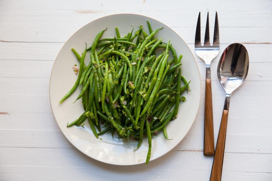 Haricot Verts with Chervil Vinaigrette / Carrie Crow / Katie Workman / themom100.com