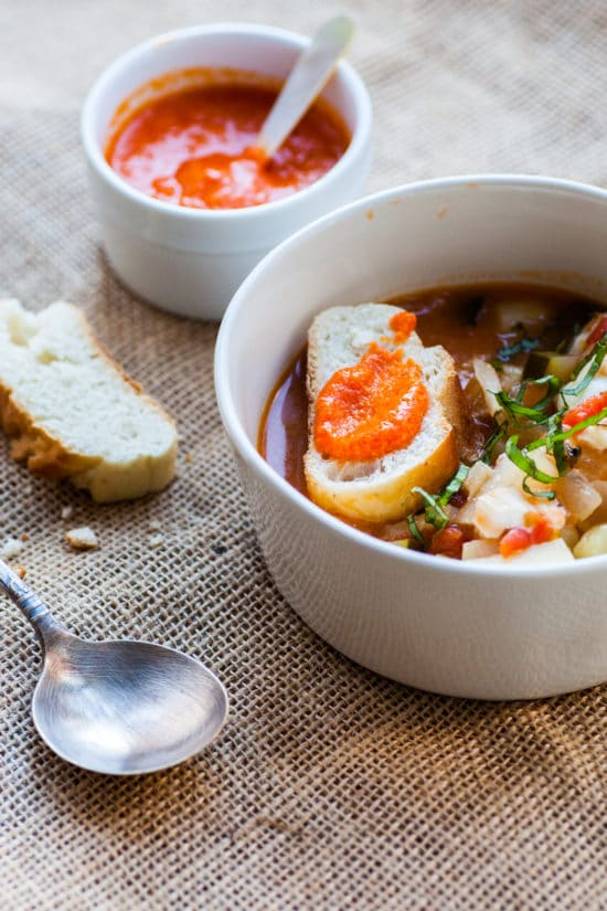 Provencal Fish Stew with Rouille / Carrie Crow / Katie Workman / themom100.com