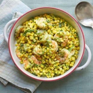 Shrimp and Corn Salad with Basil Dressing / Mia / Katie Workman / themom100.com