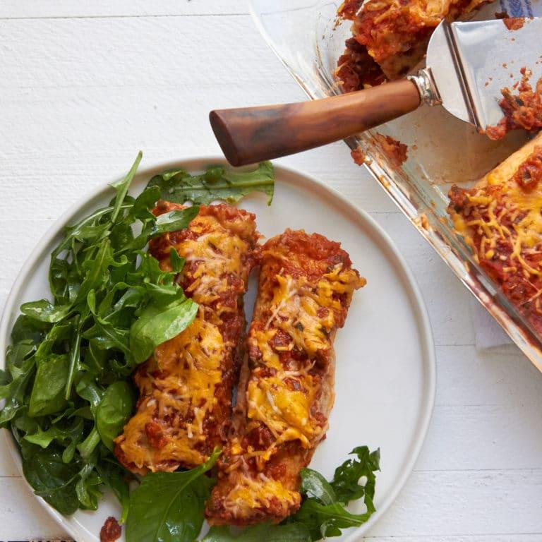 Spicy Chicken and Black Bean Enchiladas / Mia / Katie Workman / themom100.com