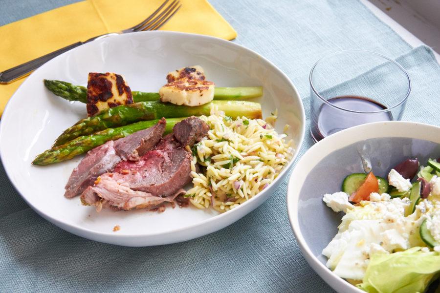 A Greek Easter Dinner Serving / Mia / Katie Workman / themom100.com