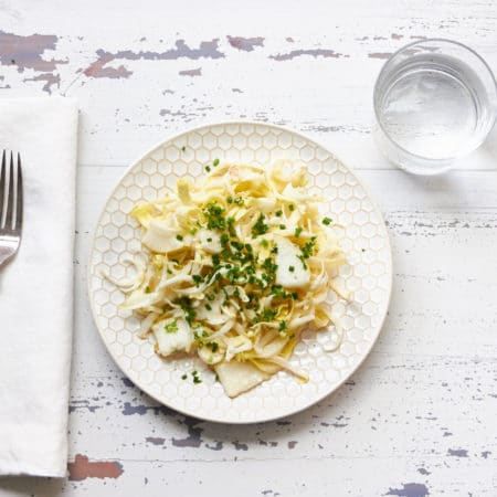 Endive Salad with Pear and Creamy Herb Dressing / Mia / Katie Workman / themom100.com