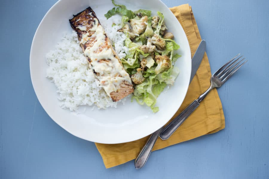 Citrus Marinated Salmon with Zesty Sauce / Lucy Beni / Katie Workman / themom100.com