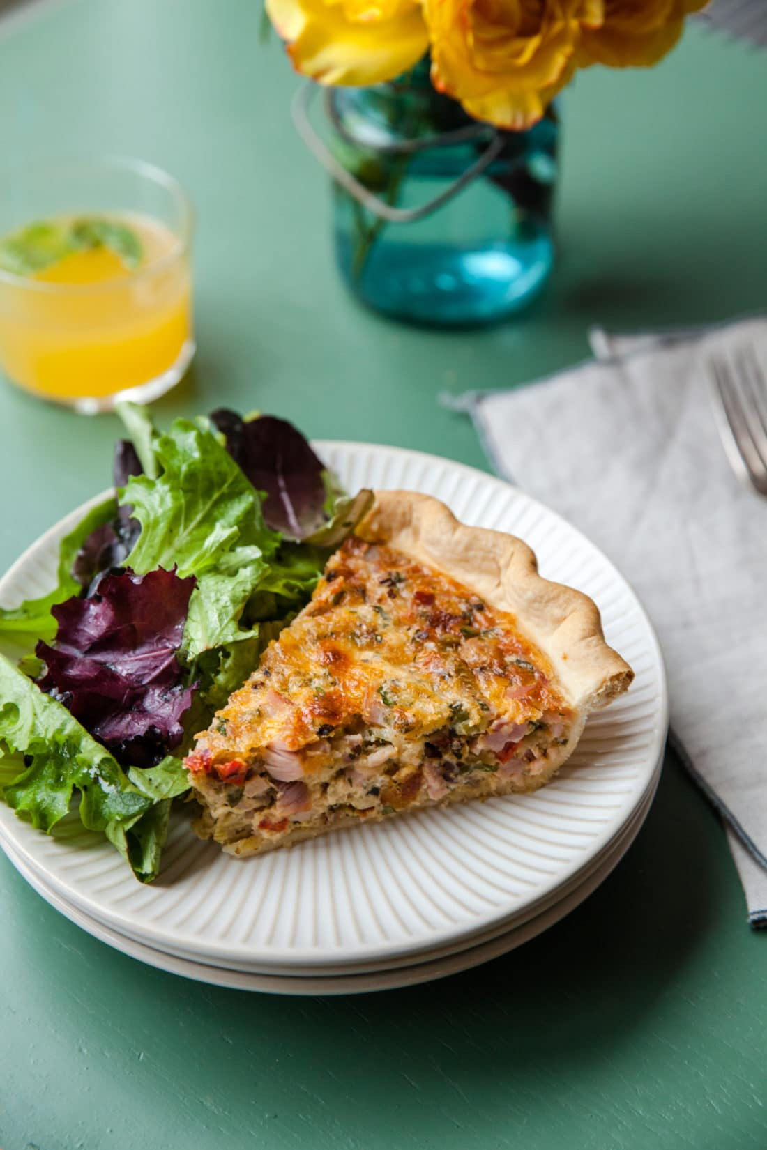 Ham and Cheese Pie / Carrie Crow / Katie Workman / themom100.com