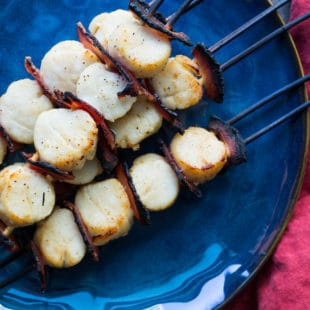 Scallop and Pancetta Kebab / Sarah Crowder / Katie Workman / themom100.com