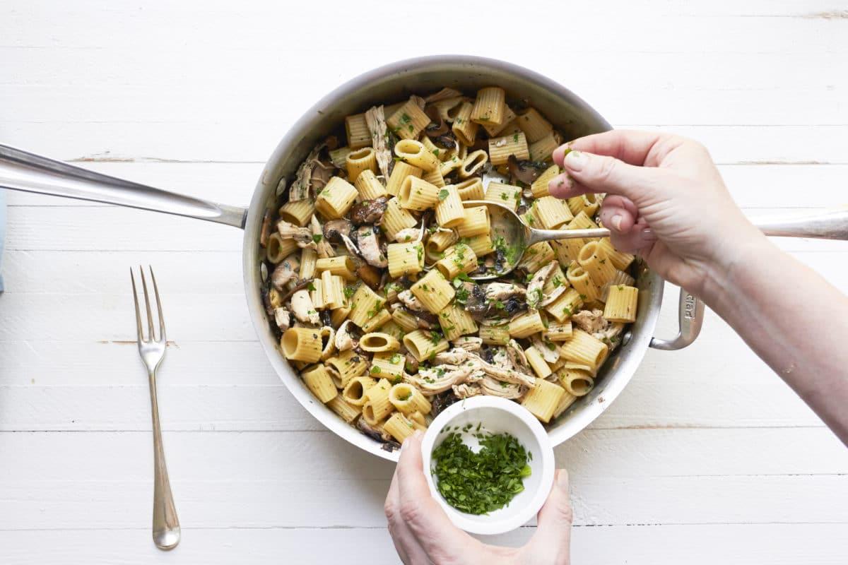 5-Ingredient Pasta: Chicken and Mushroom Marsala Rotelle / Mia / Katie Workman / themom100.com