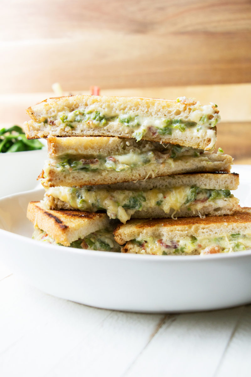 Jalapeno Popper Grilled Cheese / Mandy Maxwell / Katie Workman / themom100.com