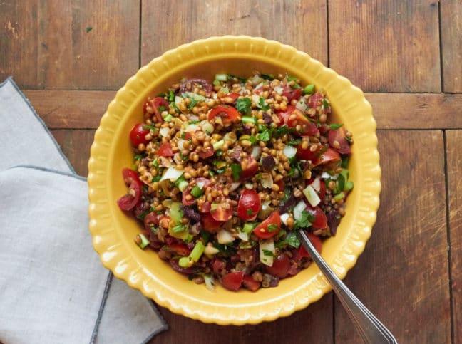 Food Deadline Mediterranean Tomato Wheat Berry Salad with Fresh Herbs 1/Katie Workman